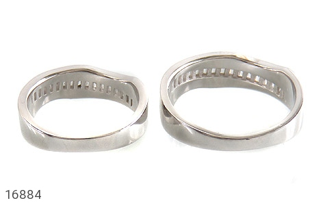 حلقه ازدواج نقره طرح اسپرت - تصویر 4