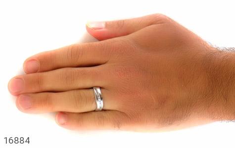 حلقه ازدواج نقره طرح اسپرت - تصویر 8