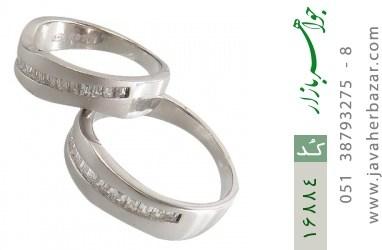 حلقه ازدواج نقره طرح اسپرت - کد 16884