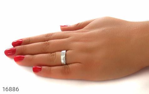 حلقه ازدواج نقره طرح شاهین - عکس 7