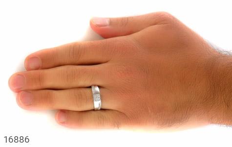 حلقه ازدواج نقره طرح شاهین - تصویر 8