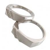 حلقه ازدواج نقره طرح محبوب