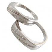 حلقه ازدواج نقره طرح ثنا