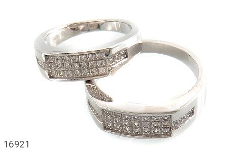 حلقه ازدواج نقره طرح گیتی - عکس 1