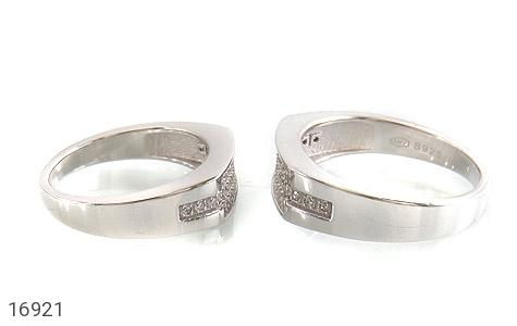 حلقه ازدواج نقره طرح گیتی - عکس 3