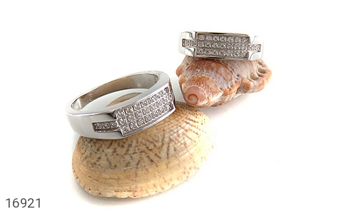 حلقه ازدواج نقره طرح گیتی - عکس 5