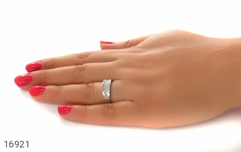 حلقه ازدواج نقره طرح گیتی - تصویر 8