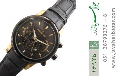 ساعت رمانسون بند چرمی Romanson اسپرت صفحه مشکی مردانه - کد 16925