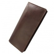 کیف چرم طبیعی دسته چک زیپ دار
