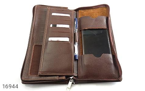 کیف چرم طبیعی دسته چک زیپ دار - عکس 5
