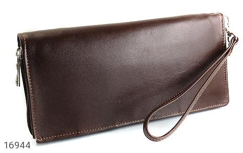 کیف چرم طبیعی دسته چک زیپ دار - عکس 7
