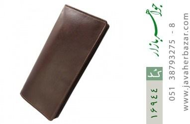 کیف چرم طبیعی دسته چک زیپ دار - کد 16944