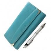 کیف چرم طبیعی به همراه خودکار زنانه
