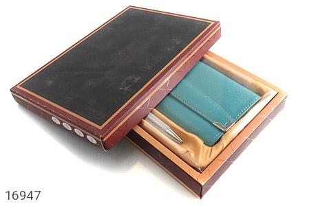کیف چرم طبیعی به همراه خودکار زنانه - تصویر 8
