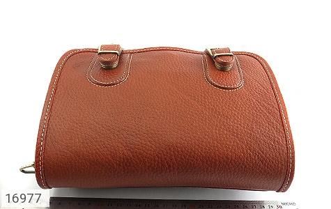 کیف چرم طبیعی بند دار قهوه ای - تصویر 10