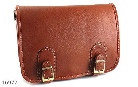 کیف چرم طبیعی بند دار قهوه ای - تصویر 2