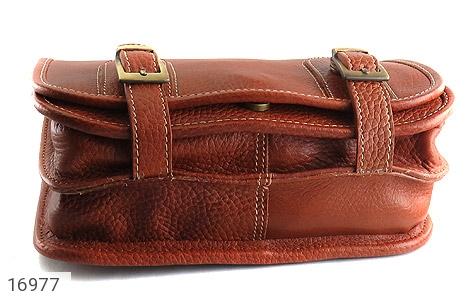 کیف چرم طبیعی بند دار قهوه ای - عکس 3