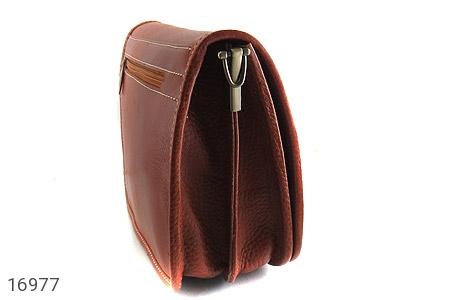 کیف چرم طبیعی بند دار قهوه ای - عکس 5