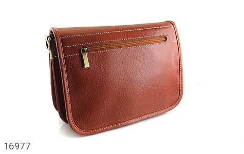 کیف چرم طبیعی بند دار قهوه ای - تصویر 6