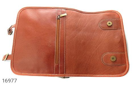 کیف چرم طبیعی بند دار قهوه ای - عکس 7