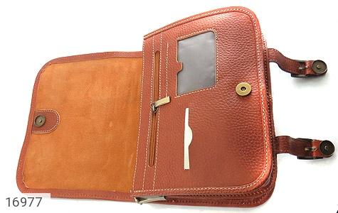 کیف چرم طبیعی بند دار قهوه ای - تصویر 8