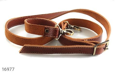 کیف چرم طبیعی بند دار قهوه ای - عکس 9