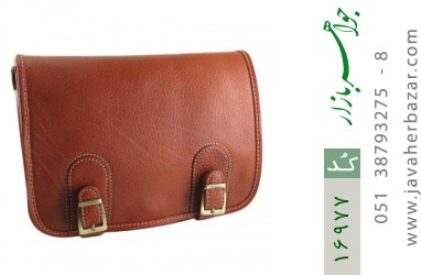 کیف چرم طبیعی بند دار قهوه ای - کد 16977