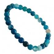 دستبند عقیق آبی جذاب زنانه