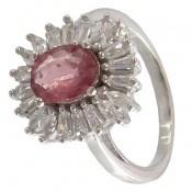 انگشتر یاقوت سرخ طرح جواهری زنانه