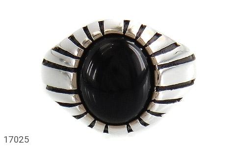 انگشتر عقیق سیاه طرح سنتی - تصویر 2