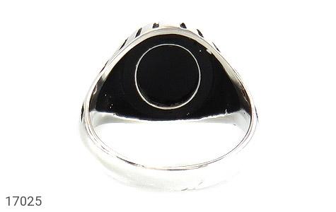 انگشتر عقیق سیاه طرح سنتی - تصویر 4