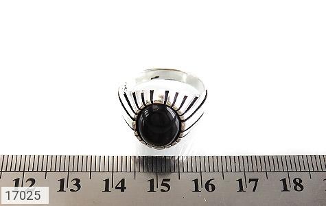 انگشتر عقیق سیاه طرح سنتی - تصویر 6