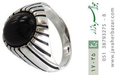 انگشتر عقیق سیاه طرح سنتی - کد 17025