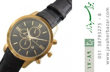 ساعت رمانسون بند چرمی Romanson دورطلائی مردانه - کد 17089