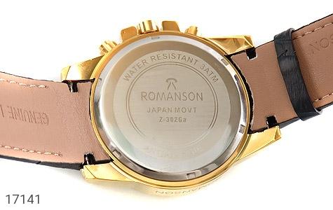 ساعت رمانسون بند چرمی Romanson کلاسیک دورطلائی مردانه - تصویر 4