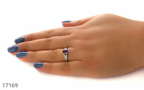 انگشتر آمتیست طرح یکتا زنانه کد 17169
