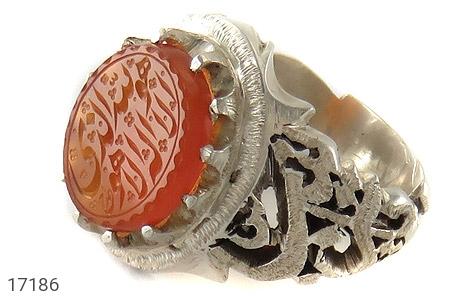 انگشتر عقیق یمن حکاکی هو الله الذی لا اله الا هو استاد احمد حکاکی و قلم زنی یا زینب دست ساز - عکس 1