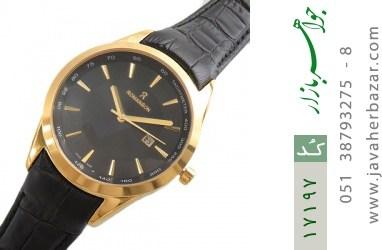 ساعت رمانسون بند چرمی Romanson صفحه مشکی مردانه - کد 17197