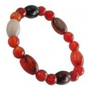 دستبند عقیق سلیمانی و سرخ تراش زنانه