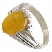 انگشتر عقیق زرد شرف الشمس طرح ارشیا مردانه