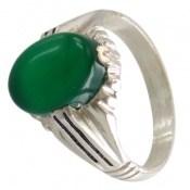 انگشتر عقیق سبز طرح ارشیا مردانه