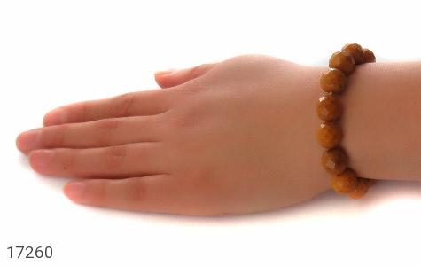 دستبند کهربا بولونی لهستان تراش و خوش رنگ درشت زنانه - تصویر 6