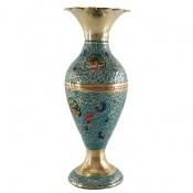 تندیس برنج کشمیری طرح گلدان میناکاری سایز 1