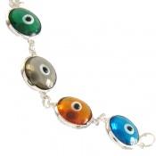 دستبند نقره چشم زخم سایز درشت زنانه