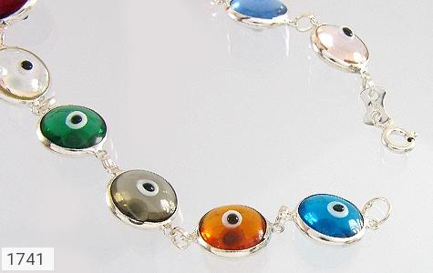 دستبند نقره چشم زخم سایز درشت زنانه - عکس 1