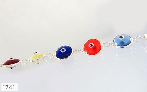 دستبند نقره چشم زخم سایز درشت زنانه - عکس 3