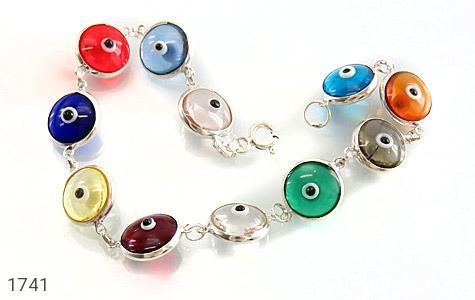 دستبند نقره چشم زخم سایز درشت زنانه - تصویر 4