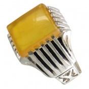 انگشتر عقیق زرد شرف الشمس طرح آرمان مردانه