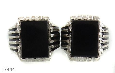 انگشتر عقیق سیاه درشت طرح سالار مردانه - تصویر 2