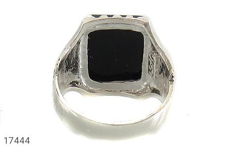 انگشتر عقیق سیاه درشت طرح سالار مردانه - تصویر 4